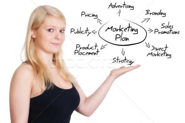 Comercialización plan mujer de negocios Foto stock © Mazirama