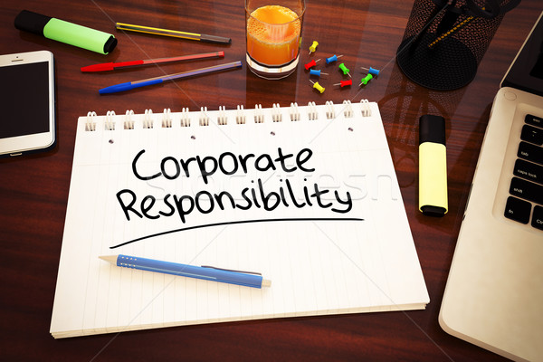 Empresarial responsabilidad texto cuaderno escritorio Foto stock © Mazirama