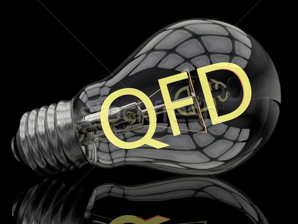 品質 機能 電球 黒 文字 3dのレンダリング ストックフォト © Mazirama