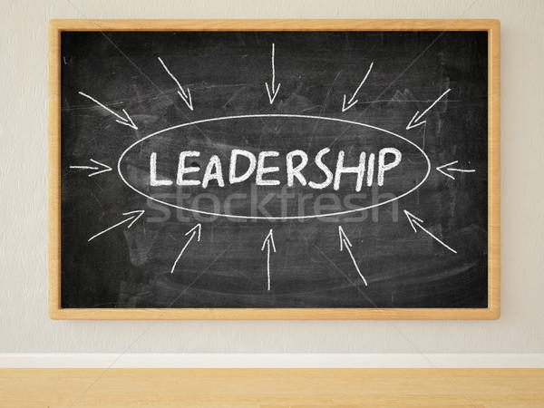 リーダーシップ 3dのレンダリング 実例 文字 黒 黒板 ストックフォト © Mazirama