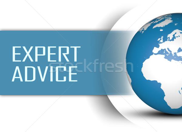 Expert conseil monde blanche affaires soutien Photo stock © Mazirama