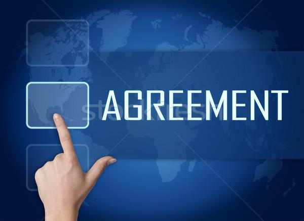 Stok fotoğraf: Anlaşma · arayüz · dünya · haritası · mavi · iş · çalışmak