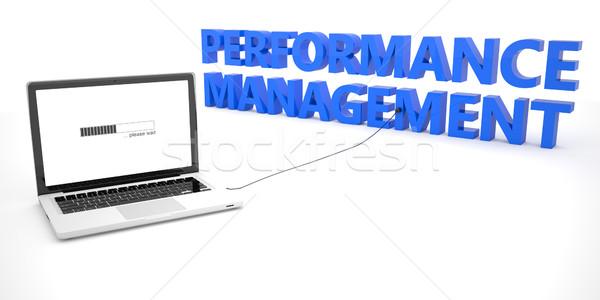 Performans yönetim dizüstü bilgisayar defter bilgisayar kelime Stok fotoğraf © Mazirama