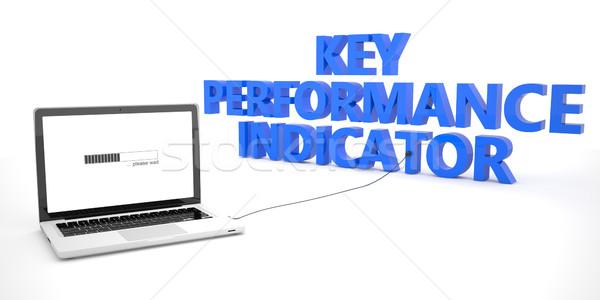 Chave atuação indicador laptop caderno computador Foto stock © Mazirama