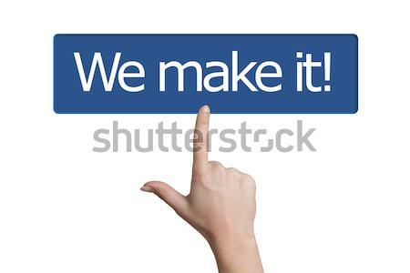 Düğme kadın el kelime Stok fotoğraf © Mazirama