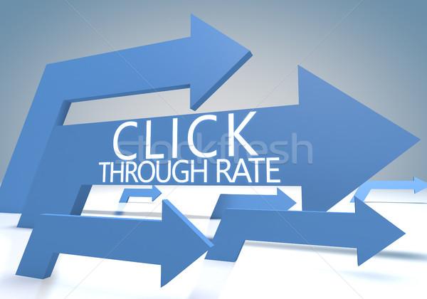 Clic 3d azul flechas negocios Foto stock © Mazirama