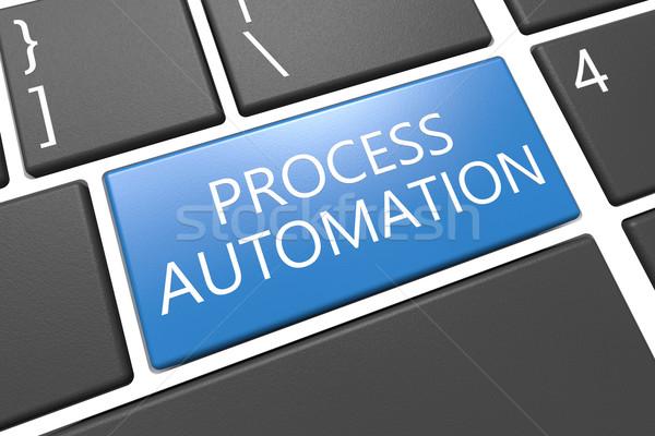 Processo automação teclado 3d render ilustração palavra Foto stock © Mazirama