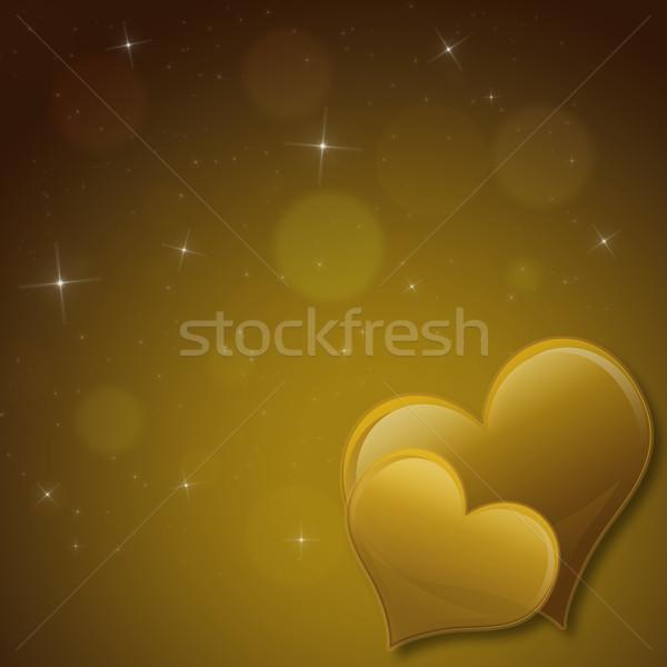バレンタインデー カード 心 星 黄色 愛 ストックフォト © Mazirama
