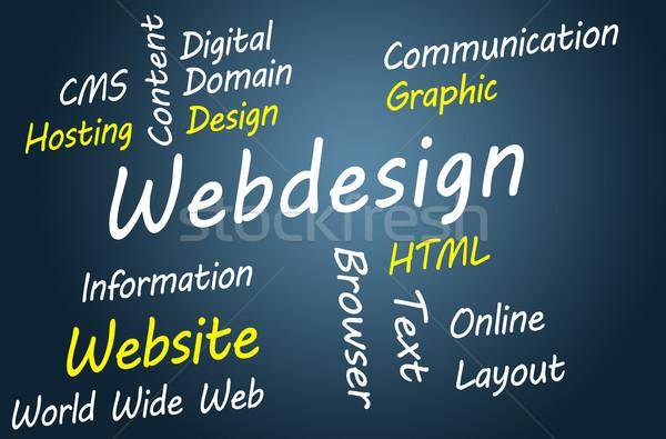 Webdesign illustratie abstract wereld achtergrond Stockfoto © Mazirama