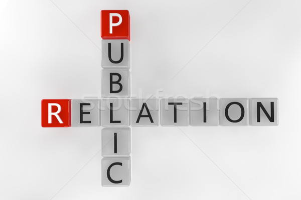 Kruiswoordraadsel openbare 3d render business Rood Stockfoto © Mazirama