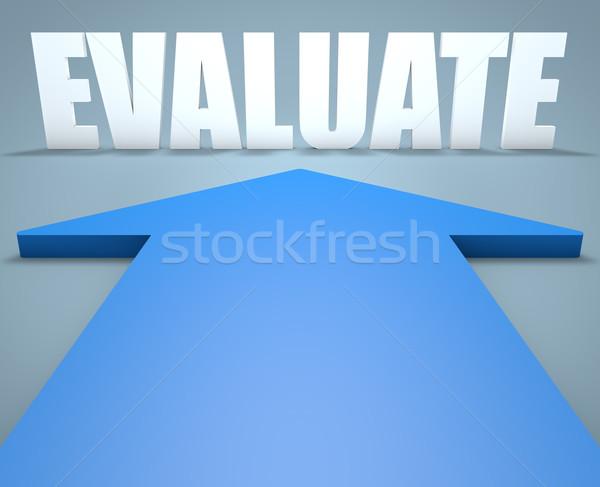 3dのレンダリング 青 矢印 ポインティング 教育 研究 ストックフォト © Mazirama