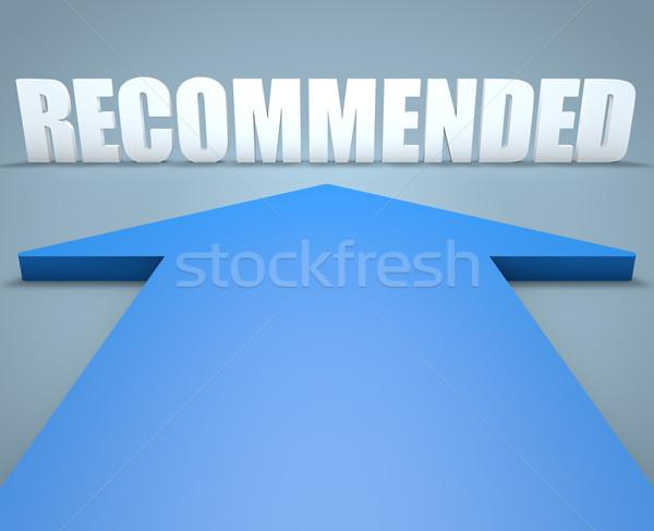 Stockfoto: 3d · render · Blauw · pijl · wijzend · dienst · professionele