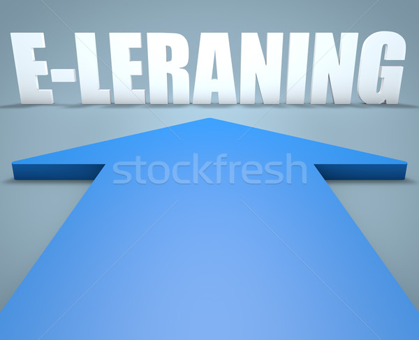 Rendering 3d blu arrow punta business Foto d'archivio © Mazirama