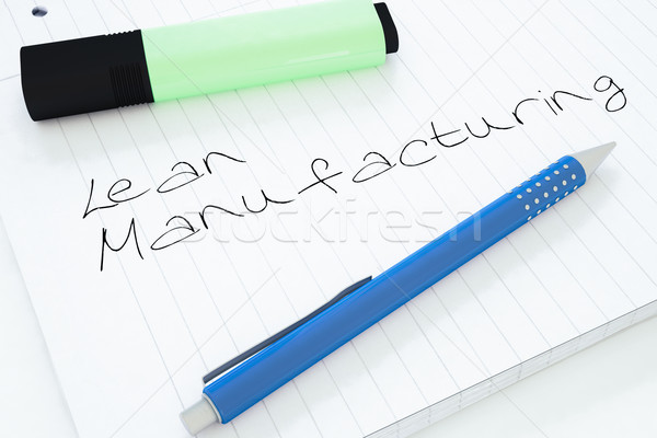 Fabrico texto caderno secretária 3d render Foto stock © Mazirama