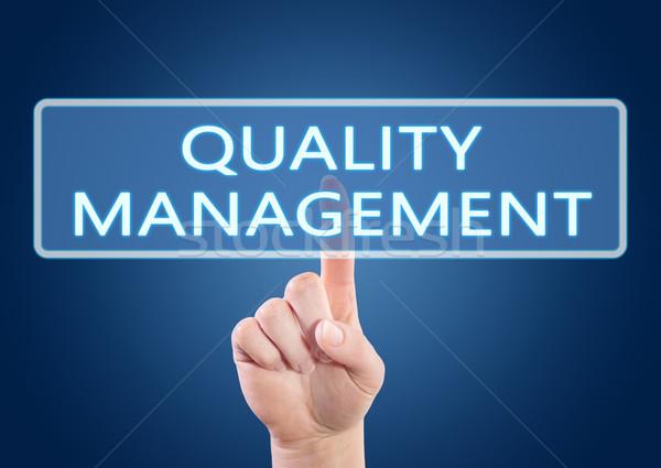 Qualité gestion main bouton interface Photo stock © Mazirama