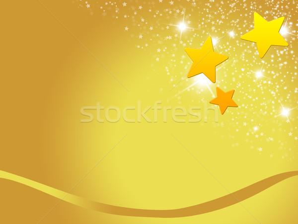 Karácsony kártya karácsony dizájnok arany csillagok Stock fotó © Mazirama