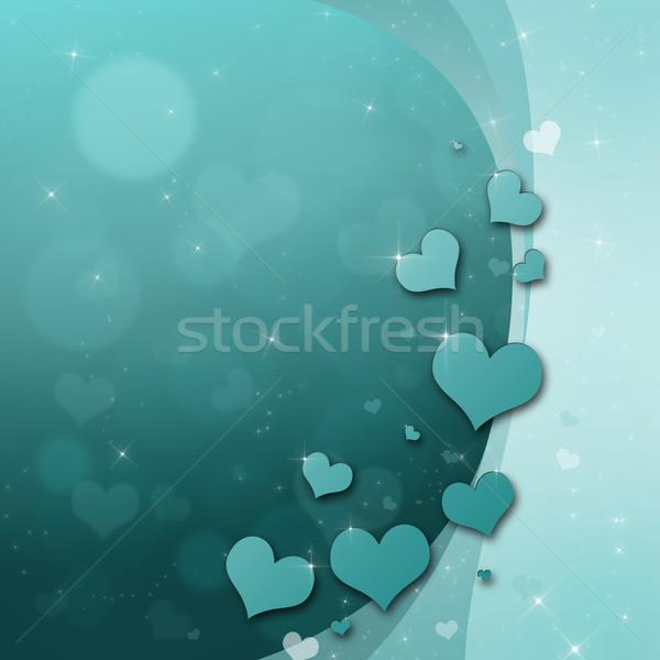 バレンタインデー カード 心 ターコイズ 緑 愛 ストックフォト © Mazirama