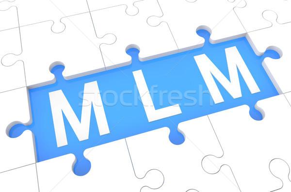 Niveau marketing puzzle rendu 3d illustration mot Photo stock © Mazirama