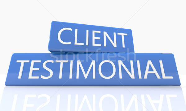 Client Testimonial Stock photo © Mazirama