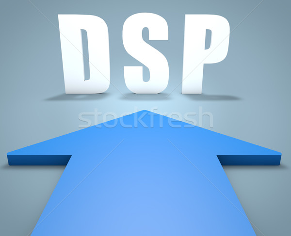 Demanda lado 3d azul flecha Foto stock © Mazirama