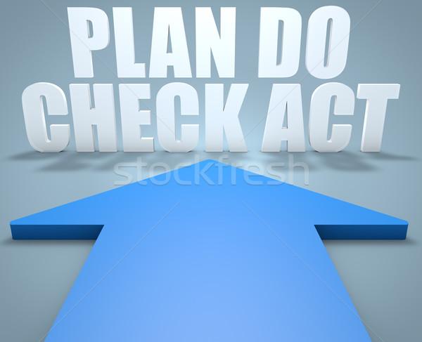 плана проверить Закон 3d визуализации синий стрелка Сток-фото © Mazirama