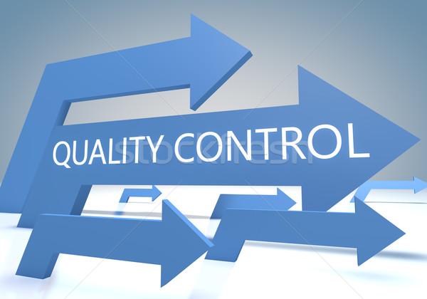 Controle de qualidade tornar azul cliente gestão Foto stock © Mazirama