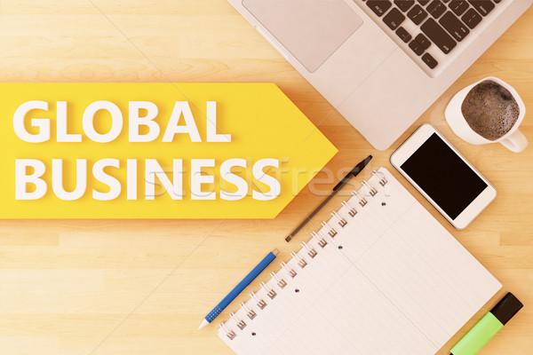 Global Business Stock photo © Mazirama