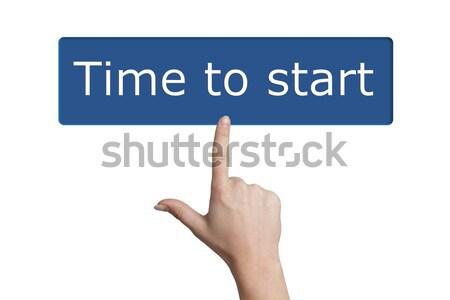 pressing time to start button Stock photo © Mazirama