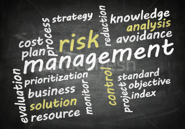 Blackboard risk management Stock photo © Mazirama