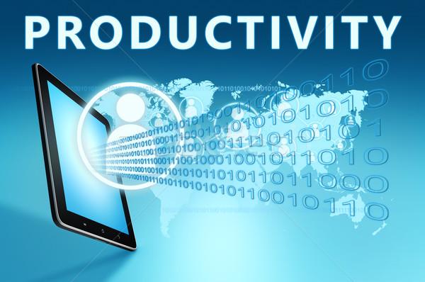 Produktiviteit illustratie Blauw business werk Stockfoto © Mazirama