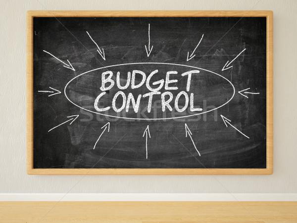 Budżet kontroli 3d ilustracja tekst czarny Zdjęcia stock © Mazirama
