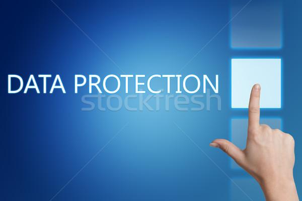 データ保護 セキュリティ 単語 デジタル 画面 コンピュータ ストックフォト © Mazirama