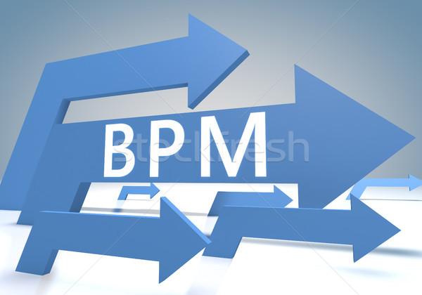 Business processo gestione rendering 3d blu frecce Foto d'archivio © Mazirama
