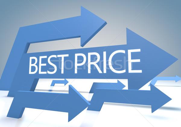 Beste prijs 3d render Blauw pijlen business store Stockfoto © Mazirama