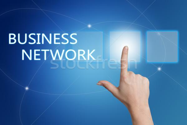 Zdjęcia stock: Business · network · strony · przycisk · interfejs · niebieski