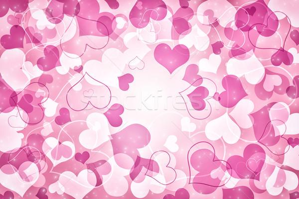 Sevgililer günü kart kalpler Yıldız sevmek çift Stok fotoğraf © Mazirama