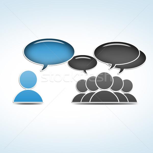 Közösségi média csoport társasági irányítás üzlet internet Stock fotó © Mazirama