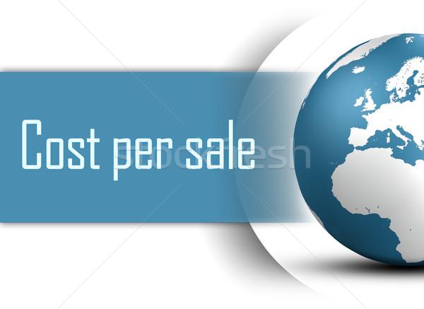 Maliyet satış dünya beyaz iş Stok fotoğraf © Mazirama