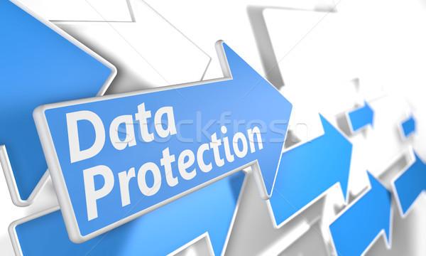 データ保護 3dのレンダリング 青 白 飛行 ストックフォト © Mazirama