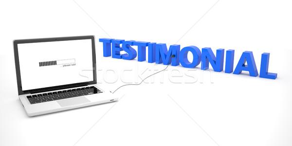 Testimonial Stock photo © Mazirama