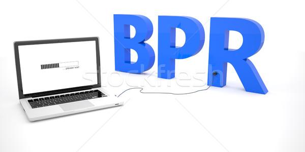 Negócio processo laptop caderno computador palavra Foto stock © Mazirama