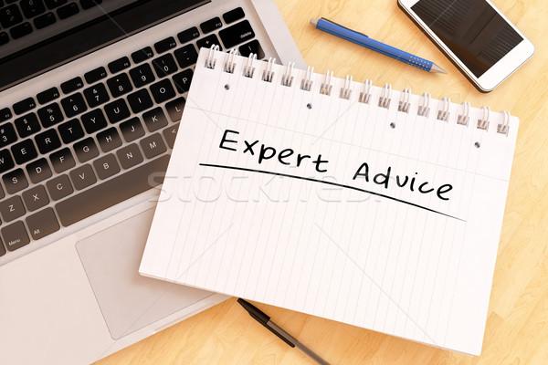 Expert conseil texte portable bureau Photo stock © Mazirama