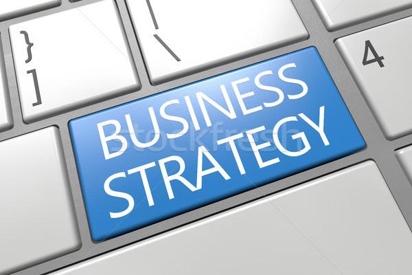 Zdjęcia stock: Strategia · biznesowa · klawiatury · 3d · ilustracja · tekst · słowo