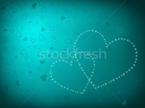 バレンタインデー カード 心 ターコイズ 中心 ストックフォト © Mazirama