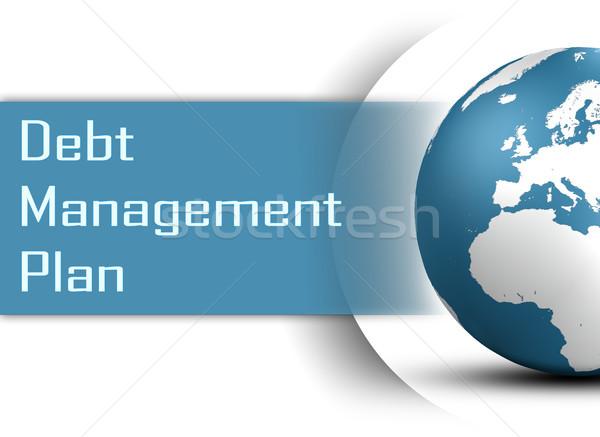 Deuda gestión plan mundo blanco dinero Foto stock © Mazirama