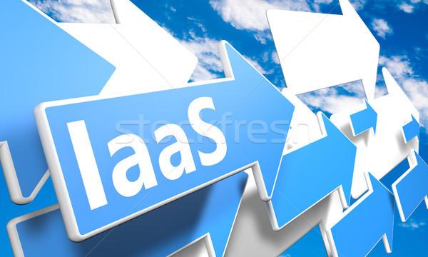 Infrastructuur dienst 3d render Blauw witte pijlen Stockfoto © Mazirama