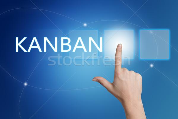 Strony przycisk interfejs niebieski stanie Zdjęcia stock © Mazirama