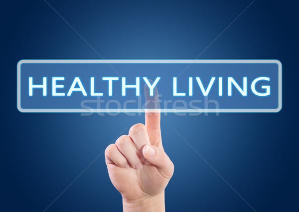 Здоровый образ жизни текста стороны кнопки интерфейс Сток-фото © Mazirama