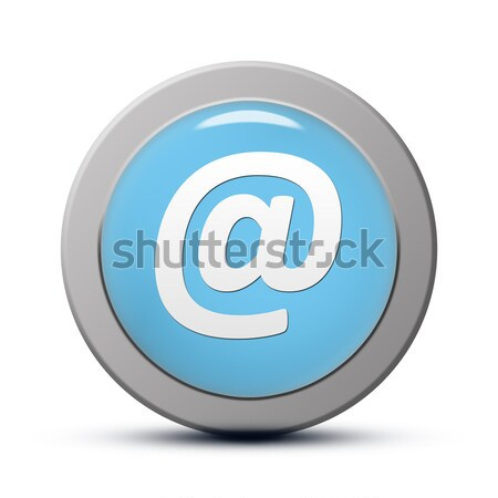 E-mail adres icon Blauw knop business Stockfoto © Mazirama