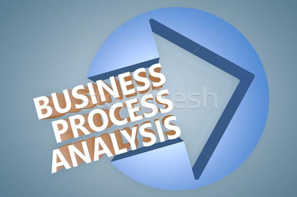 Affaires processus analyse texte 3d illustration Photo stock © Mazirama